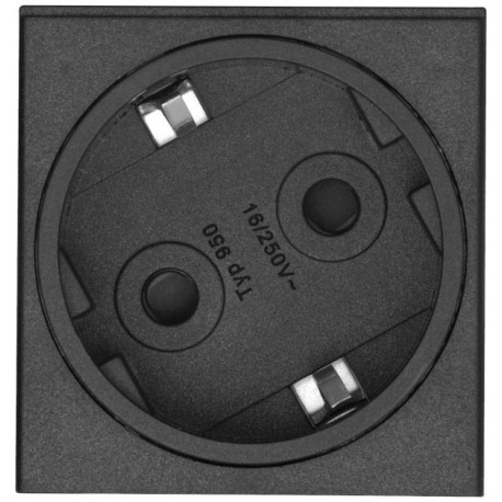 Kindermann Steckdose, VDE 60° gedreht, Modul für individuelle Produktkonfigurati