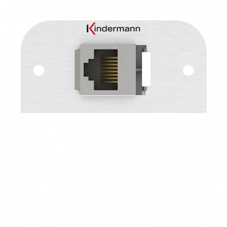 Kindermann Konnect alu 54 - Cat-6a (RJ45)
