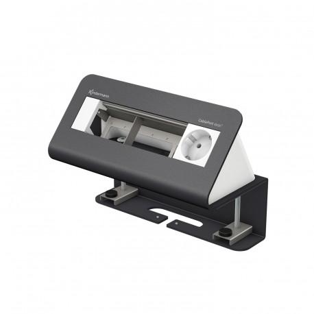 Kindermann CablePort desk² 4-fach, 1 x Strom, grau