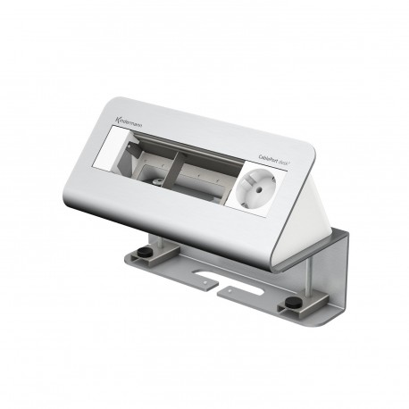 Kindermann CablePort desk² 4-fach, 1 x Strom, Alu
