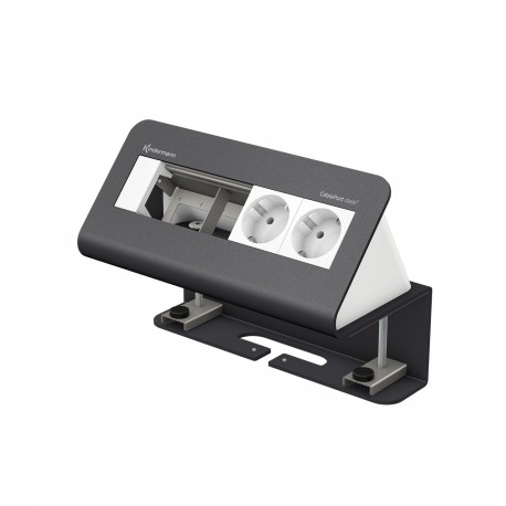 Kindermann CablePort desk² 4-fach, 2 x Strom, grau