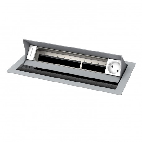 Kindermann CablePort standard² 6-fach, 1 x Strom, RAL 9006