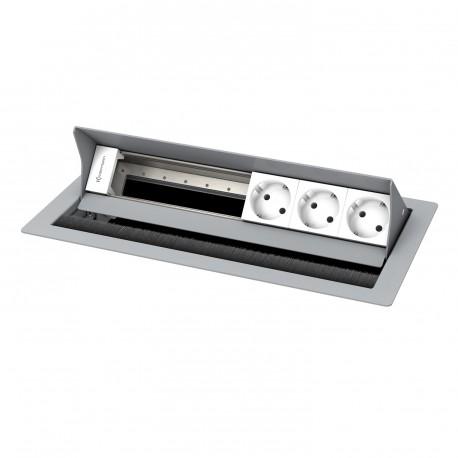 Kindermann CablePort standard² 6-fach, 3 x Strom, RAL 9006