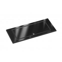 EVOline BackFlip 2-fach Steckdose, Glas, Glänzend schwarz