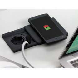 EVOline Square80 mit Qi Ladefunktion - Deckel und Gehäuse schwarz