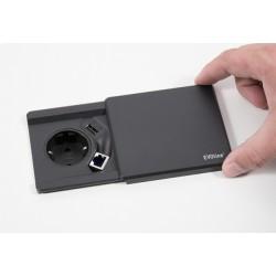 EVOline Square80 ohne Qi-Ladefunktion - Deckel und Gehäuse schwarz