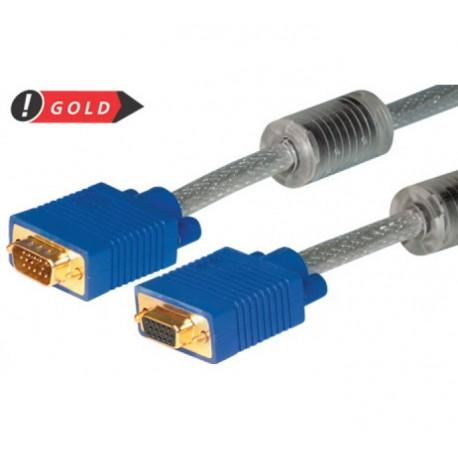 S-VGA Monitorkabel 3+7 High Quality, vergoldet, St./Bu., 2,0 m