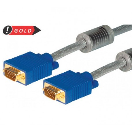 F&W S-VGA Monitorkabel 3+7 vergoldet, Stecker/Stecker, 2 m