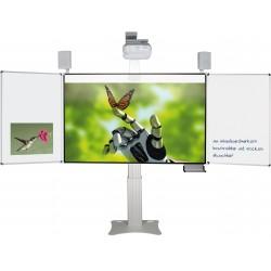Elektrisch höhenverstellbare Pylonentafel, inkl. interaktivem Mimio Beamer mit Flügel