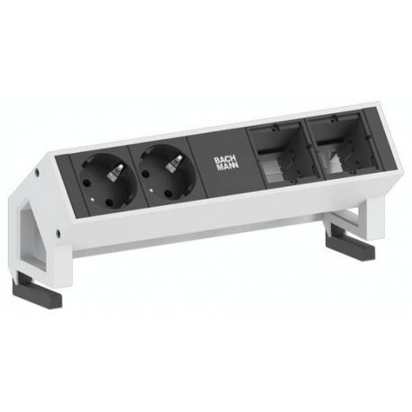 Bachmann Desk 2 Steckdoseneinheit unbestückt, Inox