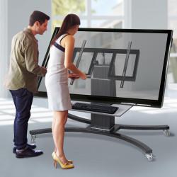 """Displaywagen - Fahrbares & schrägstellbares System für Displays von 42"""" - 86"""""""