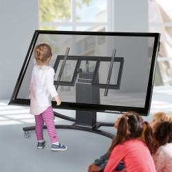 """Displaywagen - Fahrbares & schrägstellbares System für Displays von 42"""" - 75"""""""