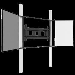 """Elektrisch höhenverstellbares 2-Säulen-Pylonensystem mit Flügeln für 65"""" - 86"""" Display"""