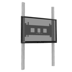 """Manuell höhenverstellbares 2-Säulen-Pylonensystem mit Flügeln für 65"""" - 86"""" Display"""