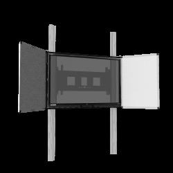 """Manuell höhenverstellbares 2-Säulen-Pylonensystem mit Flügeln für 65""""-86"""" Displays"""