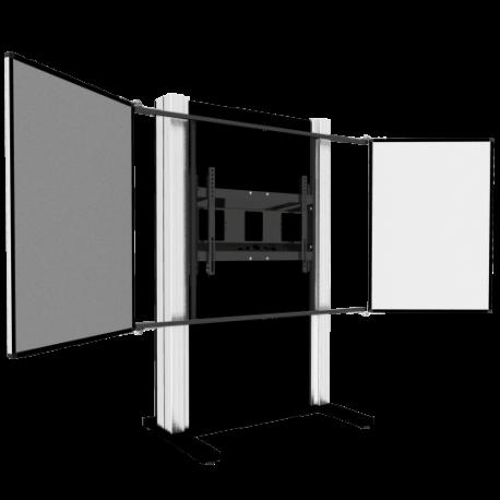 """Manuell höhenverstellbares Gegengewichtssystem mit zwei Seitenflügel für Displays von 65"""" bis 86"""""""